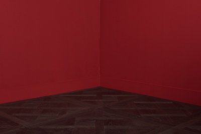 Traino flooring and center corner red walls