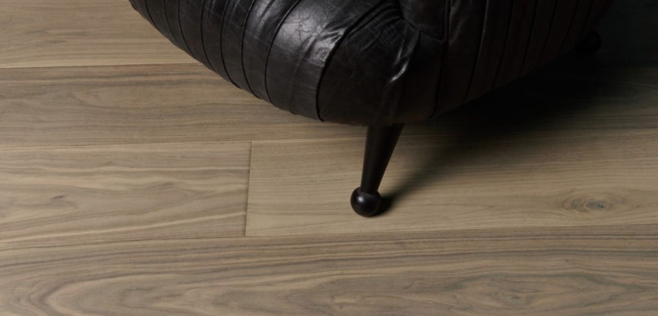 Natural Flooring Close up with Leather Chair